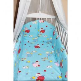 """Бортики в кроватку """"Kitty Blue"""" (CherryMom)"""