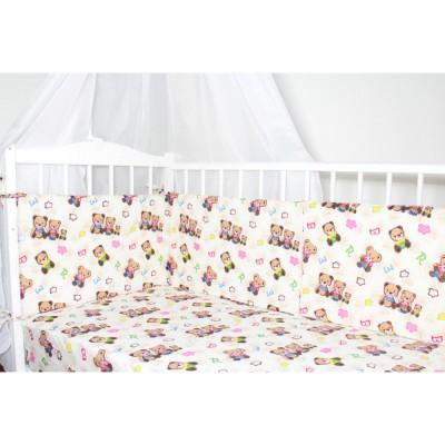 """Бортики подушки в кроватку """"Нарядные Мишки"""" CherryMom"""
