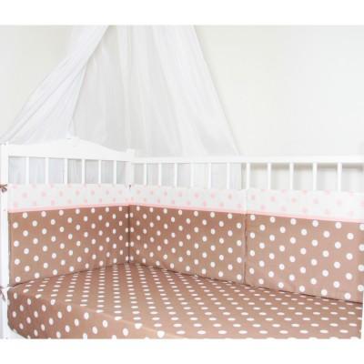 """Бортики подушки в детскую кроватку """"Капучино New"""" CherryMom"""
