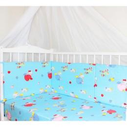 "Бортики для детской кроватки ""Kitty Blue"" (CherryMom)"