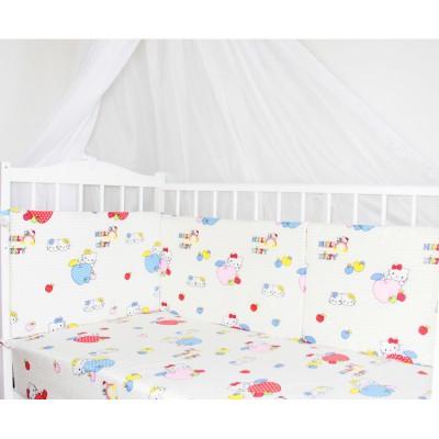 """Бортики подушки для детской кровати """"Hello Kitty"""" CherryMom"""