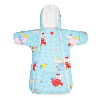 """Конверт-комбинезон для новорожденных на выписку """"Kitty Blue"""" Cherry Mom"""