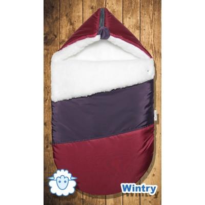 """Зимний конверт для новорожденного меховой """"Wintry Cherry"""" (CherryMom)"""