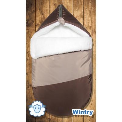 "Зимний конверт меховой ""Wintry Brown"" (CherryMom)"