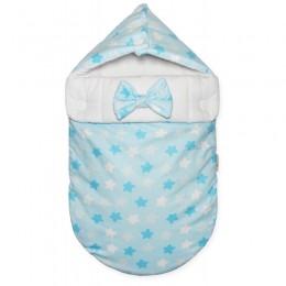"""Конверт для новорожденного на выписку """"Звездный Микс голубой"""" (CherryMom)"""