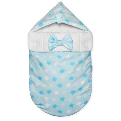 """Конверт на выписку для новорожденного """"Звездный Микс голубой"""" (CherryMom)"""