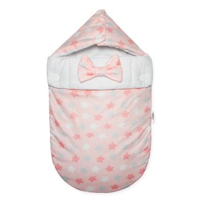 """Конверт для новорожденной девочки на выписку """"Звездный Микс розовый"""" CherryMom"""