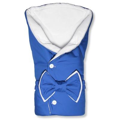 """Конверт-одеяло круглое на выписку из роддома для мальчика """"Dark Blue"""" CherryMom"""