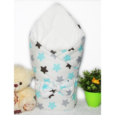 """Конверт-одеяло для новорожденного yна выписку """"Blue Black"""" CherryMom"""