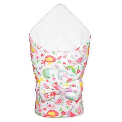 """Конверт-одеяло для новорожденного на выписку """"Птички"""" CherryMom"""