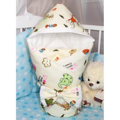 """Конверт одеяло на выписку для новорожденного с капюшоном """"Snoopy Good"""" CherryMom"""
