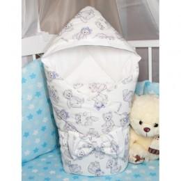 """Конверт одеяло с капюшоном для новорожденного """"Teddy Bear"""" (CherryMom)"""