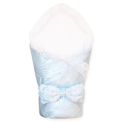 Кружевной конверт-одеяло на выписку (Голубое) CherryMom