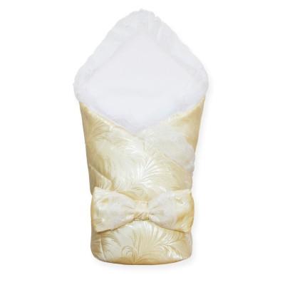 Шелковый кружевной конверт-одеяло на выписку (Шампань) CherryMom