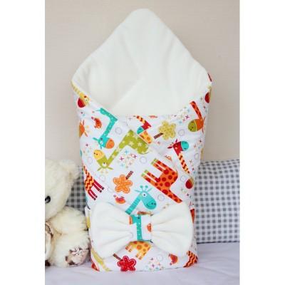 """Детский конверт-одеяло на выписку для новорожденных """"Жирафики"""" (CherryMom)"""