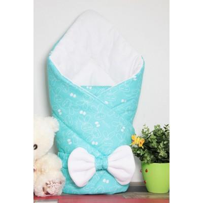 """Конверт одеяло на выписку для новорожденного мальчика """"Мятное настроение"""" CherryMom"""