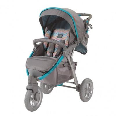"""Детская прогулочная коляска Happy Baby """"NEON SPORT"""" Blue (Голубой)"""