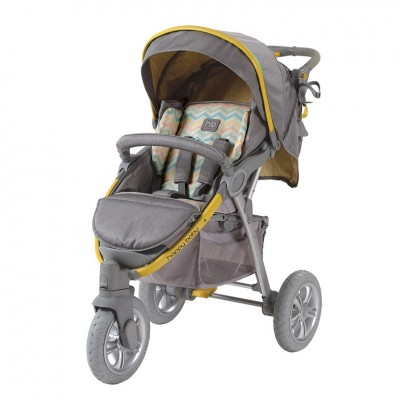 "Детская прогулочная коляска Happy Baby  ""NEON SPORT"" Yellow (Желтый)"