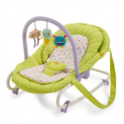 "Детский шезлонг Happy Baby ""Nesty"" Green (Зеленый)"