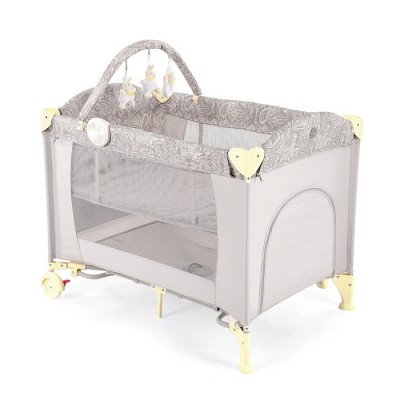 "Детский манеж-кровать Happy Baby ""Lagoon V2"" Beige (Бежевый)"
