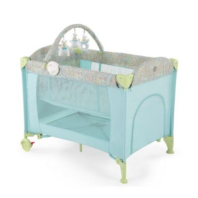 "Детский манеж - кроватка Happy Baby ""Lagoon V2"" Blue (Голубой)"