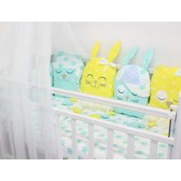 """Комплект в детскую кроватку для новорожденных с игрушками """"Друзья"""" byTwinz"""