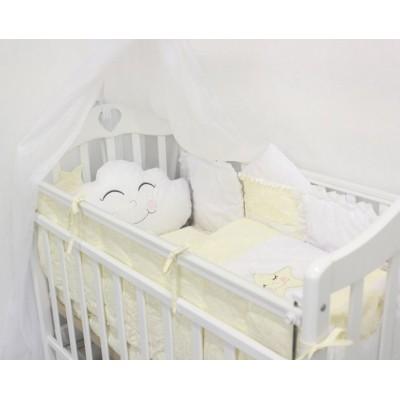 """Детский комплект постельного белья в кроватку с бортиками-игрушками """"Звездочка"""" (желтый) byTwinz"""