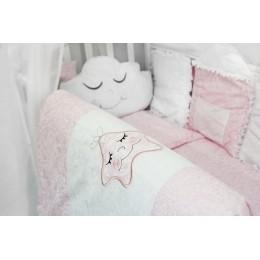 """Комплект в детскую кроватку с бортиками-игрушками """"Звездочка"""" (розовый) byTwinz"""