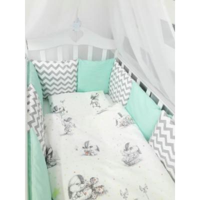 """Комплект в детскую кроватку для новорожденного """"Зайка"""" (6 предметов)"""