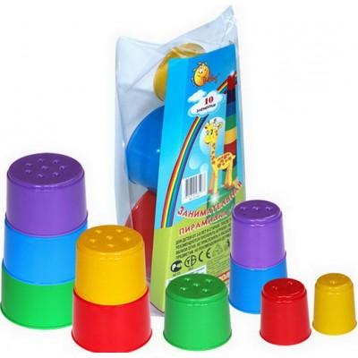 Детская занимательная пирамидка №2 (10 элементов) (в пакете) Полесье