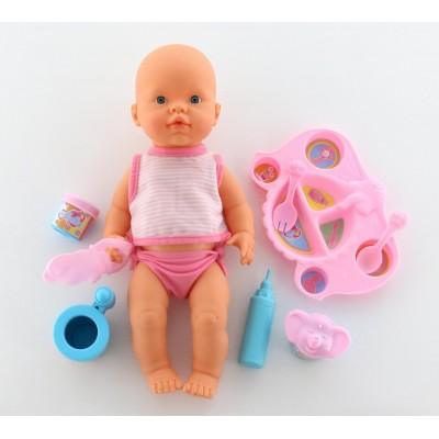 """Интерактивная кукла """"Пупс"""": пьёт и кушает (с набором для кормления) Falca"""
