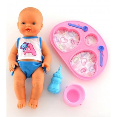 """Интерактивная кукла """"Пупс"""": пьёт и ходит на горшок (с набором для кормления) Falca"""