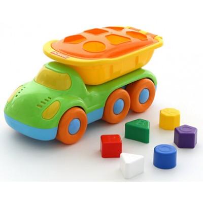 """Детская игрушечная машинка-самосвал развивающий """"Дружок"""" Полесье"""