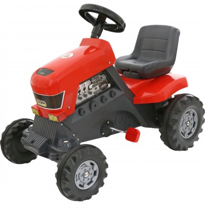 """Детская каталка-трактор с педалями """"Turbo"""" (Полесье)"""