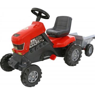 """Детская каталка-трактор с педалями """"Turbo"""" с полуприцепом (Полесье)"""
