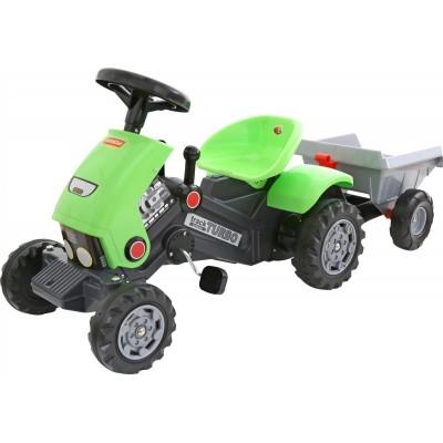 """Детская каталка-трактор с педалями """"Turbo-2"""" с полуприцепом (Полесье)"""