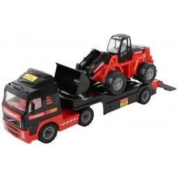 """Машинка автовоз, трейлер + трактор-погрузчик """"MAMMOET VOLVO"""" (Mammoet Polesie)"""