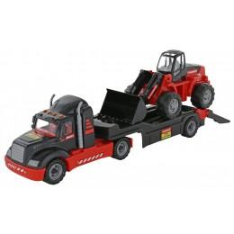 """Автовоз, трейлер + трактор-погрузчик """"MAMMOET"""" (Полесье)"""