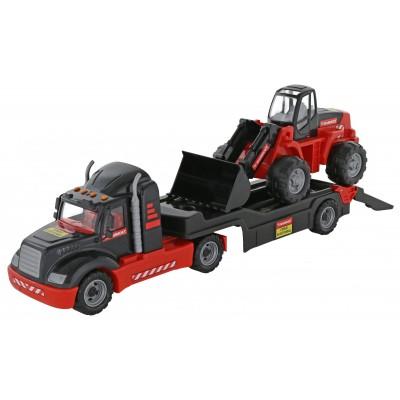 """206-01 """"MAMMOET"""", автомобиль-трейлер + трактор-погрузчик (Полесье)"""