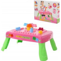 Набор игровой с конструктором (20 элементов) (розовый) с элементом вращения
