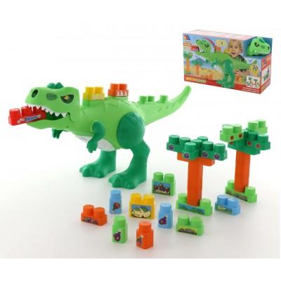 """Игровой набор """"Динозавр""""+конструктор(30 элементов)(в коробке) Molto Полесье"""