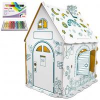 """Картонный домик-раскраска """"Дом Гном"""" с набором пастели"""