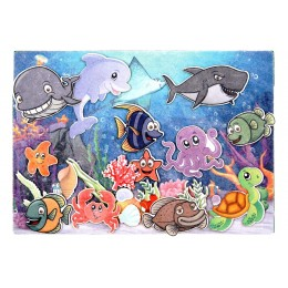 """Дидактическая игра """"Подводный мир"""" с игровым полем"""