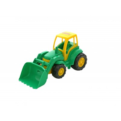 """Детский игрушечный трактор """"Чемпион"""" с ковшом (в сеточке) Полесье"""