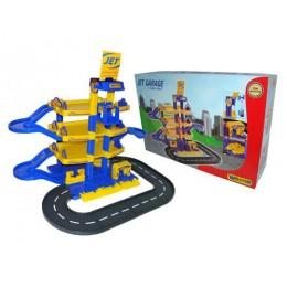 Детская парковка, паркинг Jet 4-уровневый с дорогой (Wader) 40220
