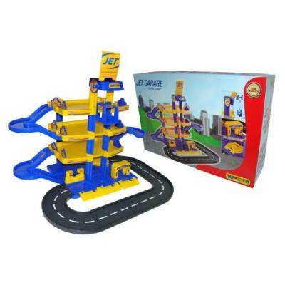 """Детский паркинг """"Jet"""" 4-уровневый с дорогой (Wader Полесье) арт. 40220"""