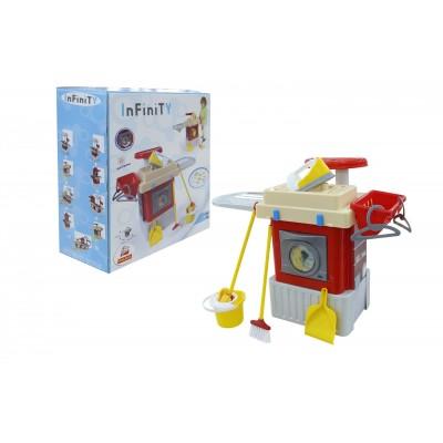 """Детская игрушечная стиральная машина, набор """"INFINITY basic"""" №3 (в коробке) Полесье"""