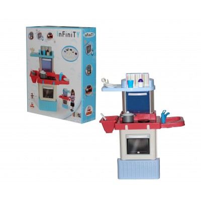 """Детский игровой набор-кухня """"INFINITY premium """" №2 (с микроволновой печью) (в коробке) Полесье 42347"""