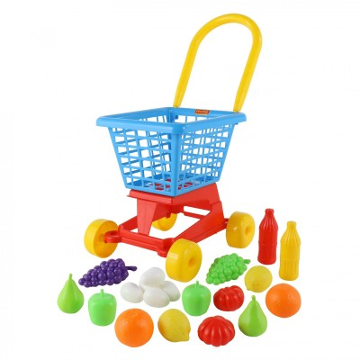 """Детская тележка """"Supermarket"""" №1 + набор продуктов (Palau Полесье)"""