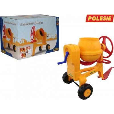 """Детская """"Бетономешалка №1 с прицепным устройством"""" (Wader Polesie) Полесье в коробке"""